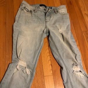 Lucky brand light wash destroyed jeans